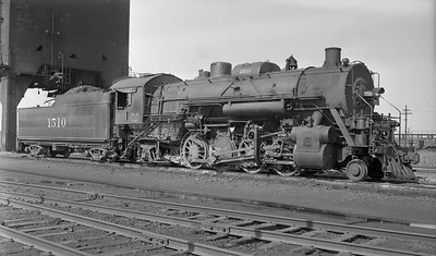 2018.008.IC.S.3757--bruce meyer PC neg--ICRR--steam locomotive 2-8-2 1510 (later renumbered 1810)--location unknown--1948 0725