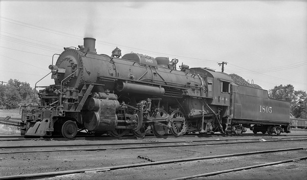 2018.008.IC.S.6750--bruce meyer PC neg--ICRR--steam locomotive 2-8-2 1805--Princeton KY--1954 0715