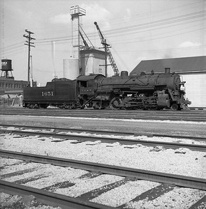 2018.008.IC.S.0143--bruce meyer 120 neg--ICRR--steam locomotive 2-8-2 1651--Bloomington IL--1954 0000