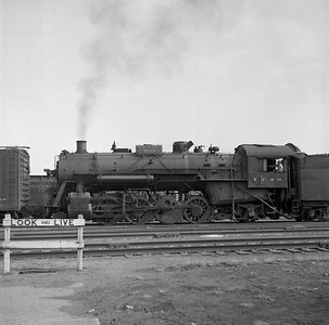 2018.008.IC.S.0578--bruce meyer 120 neg--ICRR--steam locomotive 2-8-2 1691 yard scene--Champaign IL--1956 1018