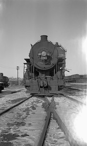 2018.008.IC.S.3733--bruce meyer 116 neg--ICRR--steam locomotive 2-8-2 1741 front view--Fort Dodge IA--1955 0200