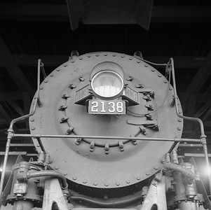 2018.008.IC.S.1752--bruce meyer 120 neg--ICRR--steam locomotive 2-8-2 2138 front view--Paducah KY--1957 1229