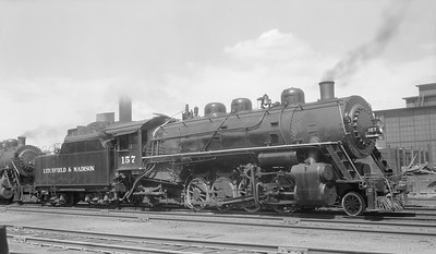 2018.008.LM.S.03--bruce meyer 116 neg--L&M--steam locomotive 2-8-2 157--Edwardsville IL--1949 0615
