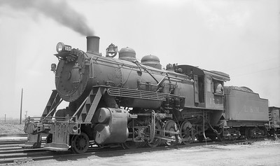 2018.008.LM.S.02--bruce meyer 116 neg--L&M--steam locomotive 2-8-0 155--East St Louis IL--1947 0708