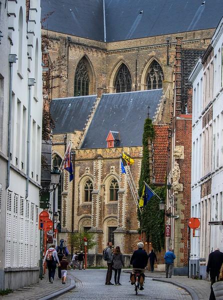 Street scene in Bruges.