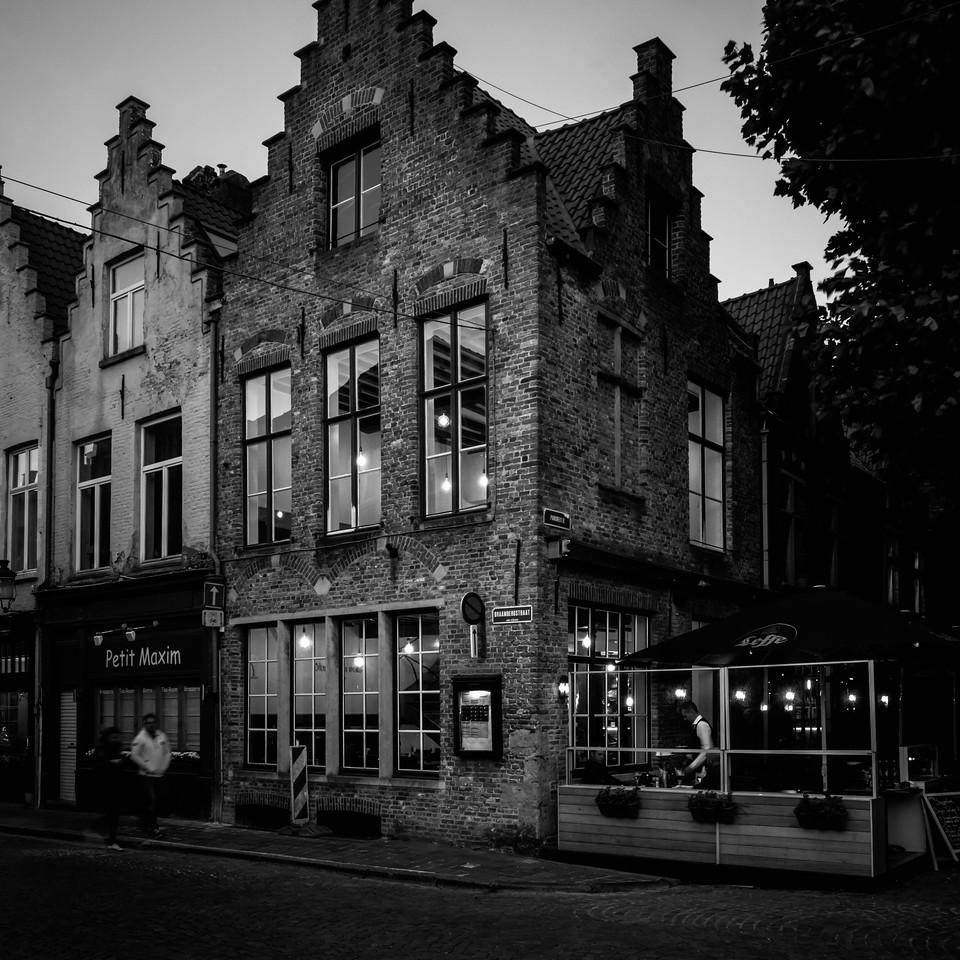 Cafe in Bruges, Belgium