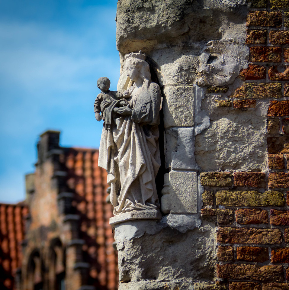 Virgin Mary and Jesus - Bruges, Belgium