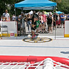 Boston Bruins FanFest came to Doyle Field on Thursday, August 22, 2019. They had s small rink with a net set up for fans to take shots on. Gabe Hebert, 8, from Townsend takes some shots during the FanFest. SENTINEL & ENTERPRISE/JOHN LOVE