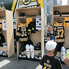 Boston Bruins FanFest came to Doyle Field on Thursday, August 22, 2019. They had mockups of some players lockers during the event. ENTINEL & ENTERPRISE/JOHN LOVE