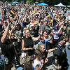 Boston Bruins FanFest came to Doyle Field on Thursday, August 22, 2019. Fans try and catch free stuff during the event. SENTINEL & ENTERPRISE/JOHN LOVE