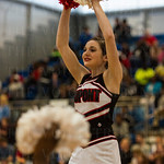 The DuPont-Manual Cheerleaders kept their crowd pumped up throughout the game.