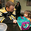Bob's Discount Furniture partnered with the Boston Bruins and One Mission to donate and deliver new home furnishings to a local Fitchburg family. The youngest of the family Juliet Robichaud, 3, is currently battling Acute Myeloid Leukemia and Bob's wanted to commend her bravery by gifting Juliet her dream bedroom! In addition, the rest of the family got gifts for their rooms from the Bruins. Bruins Alum PJ Stock and mascot Blades were on hand to welcome Juliet home from school and surprise her with her new room on Tuesday, Jan. 7, 2019. Juliet shares a room with her sister Ellie, 7. Juliet hangs out with P.J. Stock, a Bruin from 2000 to 2003. SENTINEL & ENTERPRISE/JOHN LOVE