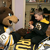 Bob's Discount Furniture partnered with the Boston Bruins and One Mission to donate and deliver new home furnishings to a local Fitchburg family. The youngest of the family Juliet Robichaud, 3, is currently battling Acute Myeloid Leukemia and Bob's wanted to commend her bravery by gifting Juliet her dream bedroom! In addition, the rest of the family got gifts for their rooms from the Bruins. Bruins Alum PJ Stock and mascot Blades were on hand to welcome Juliet home from school and surprise her with her new room on Tuesday, Jan. 7, 2019. Juliet shares a room with her sister Ellie, 7. Blades plays with their brother Brayden, 9, in his room with some of the new toys he got from the team. SENTINEL & ENTERPRISE/JOHN LOVE