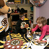 Bob's Discount Furniture partnered with the Boston Bruins and One Mission to donate and deliver new home furnishings to a local Fitchburg family. The youngest of the family Juliet Robichaud, 3, is currently battling Acute Myeloid Leukemia and Bob's wanted to commend her bravery by gifting Juliet her dream bedroom! In addition, the rest of the family got gifts for their rooms from the Bruins. Bruins Alum PJ Stock and mascot Blades were on hand to welcome Juliet home from school and surprise her with her new room on Tuesday, Jan. 7, 2019. Juliet shares a room with her sister Ellie, 7. Blades plays Juliet and her brother Brayden, 9, in his room with some of the new toys he got from the team. SENTINEL & ENTERPRISE/JOHN LOVE