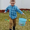 Duke Peterson of Westford hunts for Easter eggs.