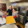 Volunteer chefs Tim Costos of Leominster and Kerri Leo of Chelmsford
