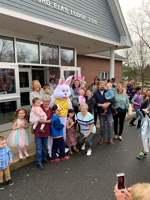 . The Easter Bunny had plenty of buddies.