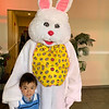 Anthony Tran of Lowell with the Easter Bunny
