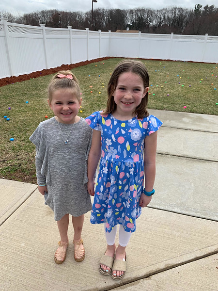 Sisters Maeve and Olivia Adams of Tyngsboro
