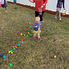 Bella loves the Easter egg hunt.