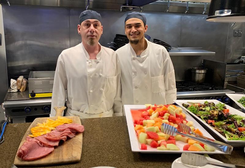 Andiamo chef Marc Jherrien and apprentice Felix Riviera, both of Chelmsford