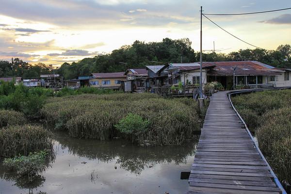Wodna wioska - to jest bruneiski slams, caly czas czuliÅ›my siÄ™ bardzo bezpiecznie
