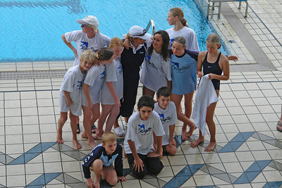 Oskar und der Rest vom Team. In der Mitte Donna, die Trainerin.