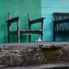 "An abandoned chair and bench at Kampong Ayers (Water Stilt Village) - Bandar Seri Begawan, Brunei.  This is a travel photo from Bandar Seri Begawan, Brunei. <a href=""http://nomadicsamuel.com"">http://nomadicsamuel.com</a>"