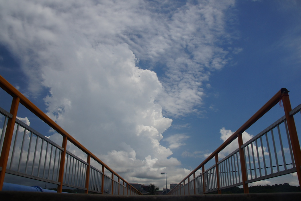 Ramp views of the sky and clouds in Bandar Seri Begawan, Brunei