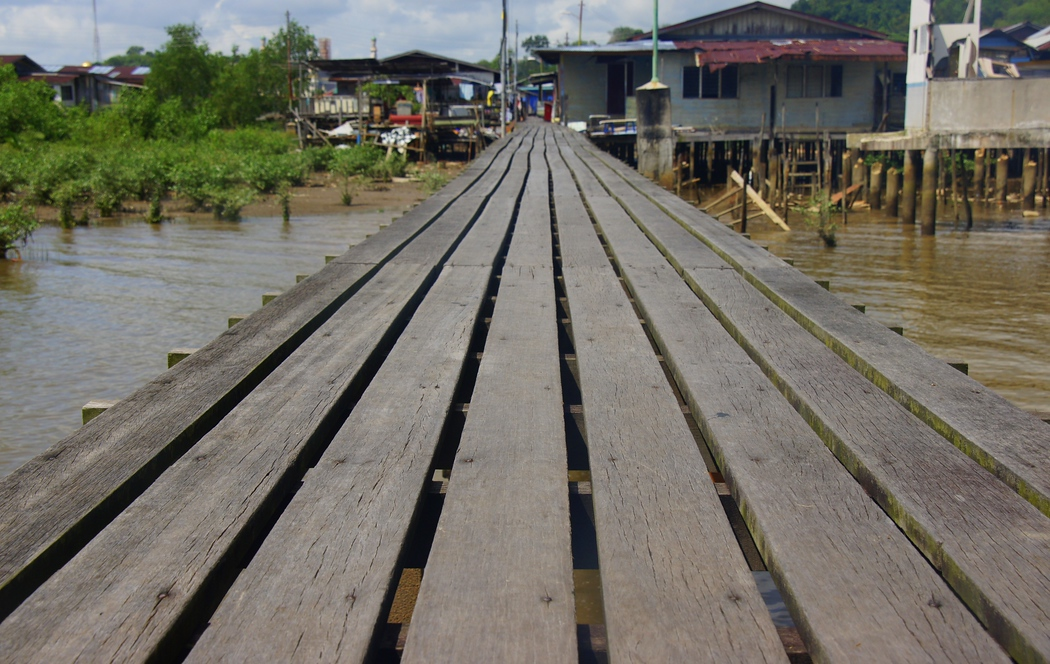 Board walk along Kampong Ayer, Brunei