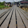 "A board walk (ramp) connecting one section of the water stilt village to another - Kampong Ayer, Brunei.  Travel photo from Bandar Seri Begawan, Brunei. <a href=""http://nomadicsamuel.com"">http://nomadicsamuel.com</a>"