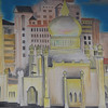 Today's daily travel photo is of a painted mosque I noticed while eating lunch in Bandar Seri Begawan, Brunei.