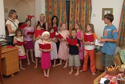 Zum 4. Advent gab's bei Freunden ein Ständchen der Kinder.