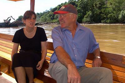 30 Minuten im Wassertaxi im Kampong Ayer für 20B$.