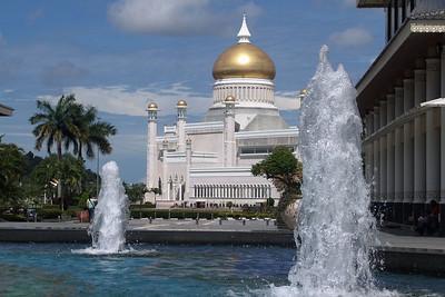 Die grosse Moschee im Centrum von Bandar Seri Begawan.