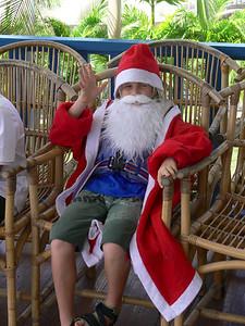 Ho,Ho, Ho. Ich bin der Weihnachtsmann.