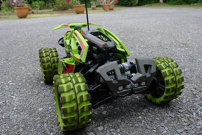 Dieses fermgesteuerte Legoauto war das Beste. Mehr als 20km/Stunde!