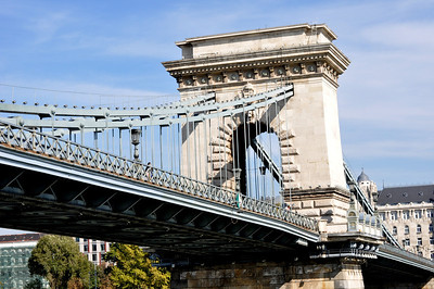 The Chain Bridge, a remarkable feat, constructed late 19th century