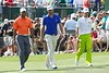 Tiger Woods, Dustin Johnson and Tianlang Guan