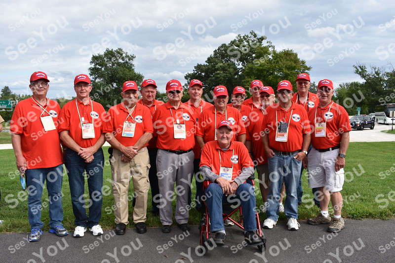 -Messenger photo by Joe Sutter<br /> <br /> Carroll County veterans at the Marines Corps War Memorial during the Brushy Creek Area Honor Flight Sept. 15, 2018.
