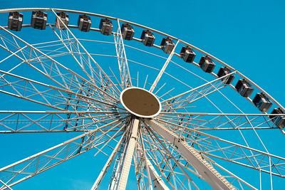 Blue on the Ferris wheel