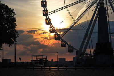 Sunset on the Brussels Ferris Wheel