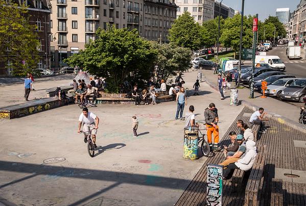 Skaters in Bruxelles
