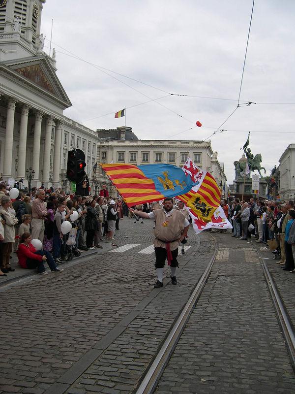Flag twirlers.