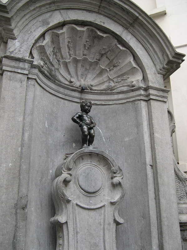 The Manneken-Pis statue near the Grand Place.