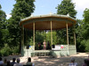 """The concert was at a beautiful antique cast iron band stand in the Parc, with a jazz quartet (singer, classical guitarist, bass and drums) performing selections from Cole Porter and Gerschwin.  Two Americans in Brussels beats an """"American in Paris"""" hands down."""