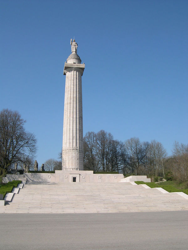 Montfaucon monument in the spring.
