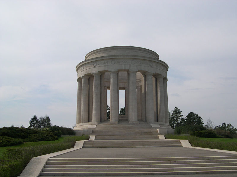 The Montsec American War Memorial.  Modeled after the Jefferson Memorial in Washington, this monument sits on a hill above the St. Mihiel battlefield.