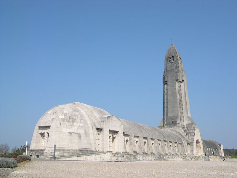 Douaumont Ossuary, a truly ugly building.  It is supposed to represent a lighthouse above a bunker.
