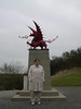 The Welsh Memorial to their troops fighting at Mametz Woods on the Somme.  From this point, they attacked across an open field into the German machine guns concealed in Mametz Woods. and finally succeeded in capturing the woods at the cost of 4000 men.